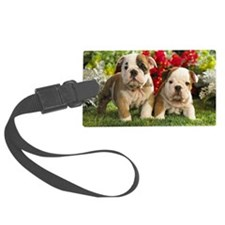 cute_bulldog_puppies_wide_wallpa Luggage Tag