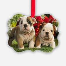 cute_bulldog_puppies_wide_wallpap Ornament