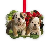 English bulldog Picture Frame Ornaments