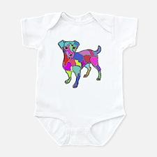 NEON JACK RUSSELL TERRIER Infant Bodysuit
