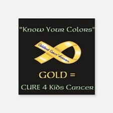 """Know your colors -GOLD = Cu Square Sticker 3"""" x 3"""""""