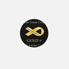 Know your colors -GOLD = Cure 4 Kids C Mini Button