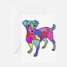 NEON JACK RUSSELL TERRIER Greeting Cards (Package