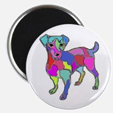 NEON JACK RUSSELL TERRIER Magnet