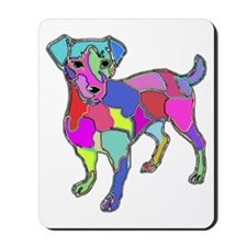 NEON JACK RUSSELL TERRIER Mousepad