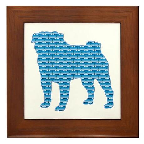 Bone Pug Framed Tile