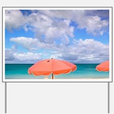 Beach chairs on Grace Baynciales Island, Yard Sign