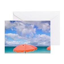 Beach chairs on Grace Baynciales Isl Greeting Card