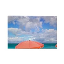Beach chairs on Grace Baynciales  Rectangle Magnet