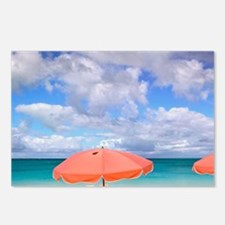 Beach chairs on Grace Bay Postcards (Package of 8)