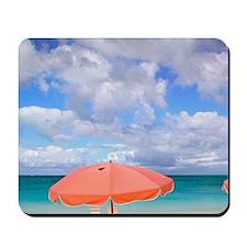 Beach chairs on Grace Baynciales Island, Mousepad