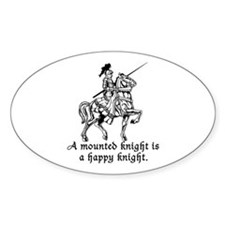 Mounted Knight Oval Decal