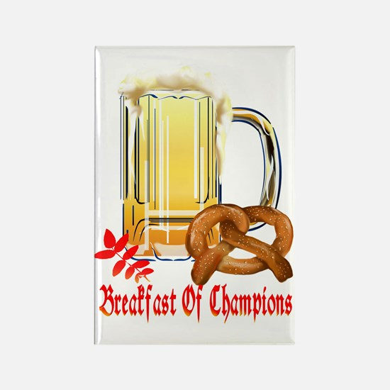 Breakfast Of Champions-Octoberfes Rectangle Magnet