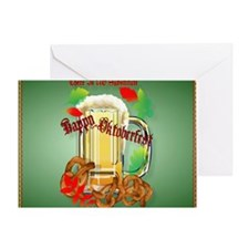 Calender Beer and Pretzels-There is  Greeting Card