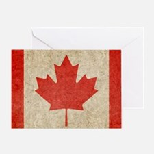 Canada Faded Shoulder Greeting Card