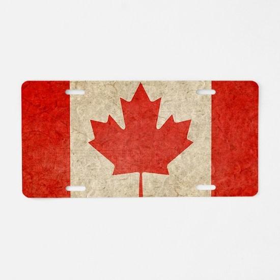 Canada Faded Shoulder Aluminum License Plate