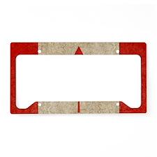 Canada Faded Shoulder License Plate Holder