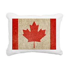 Canada Faded Shoulder Rectangular Canvas Pillow