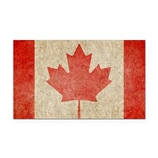 Canada Faded Coin Rectangle Car Magnet