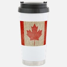 Canada Faded Coin Stainless Steel Travel Mug