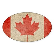 Canada Faded Coin Stickers