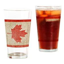 Canada Faded iPad S Drinking Glass