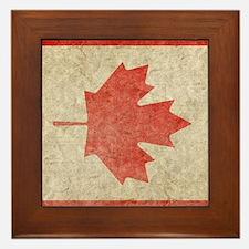 Canada Faded iPad S Framed Tile