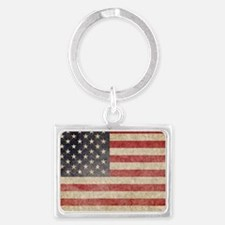 US Faded Coin Landscape Keychain