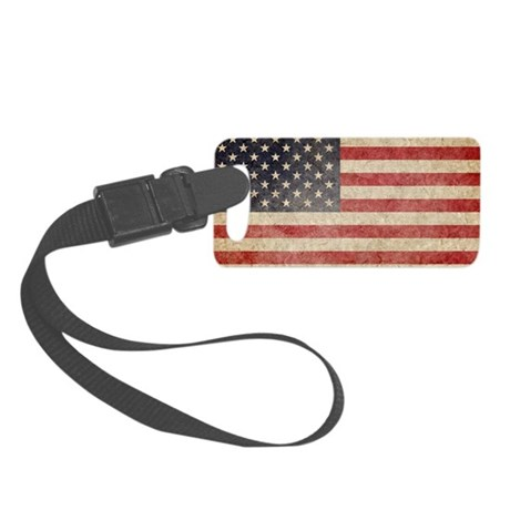 US Faded Coin Small Luggage Tag