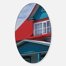 Canada, Quebec, Charlevoix. Houses, Sticker (Oval)