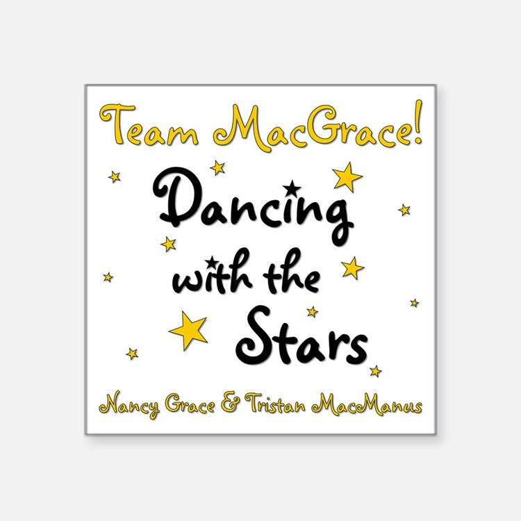"DWTS-NancyGrace Square Sticker 3"" x 3"""