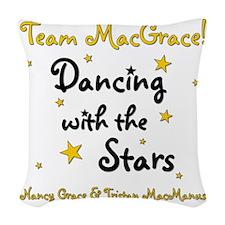 DWTS-NancyGrace Woven Throw Pillow