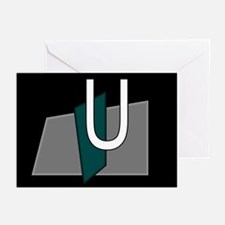 """U"" Teal Block Greeting Cards (Pk of 10)"