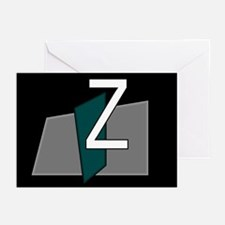 """Z"" Teal Block Greeting Cards (Pk of 10)"