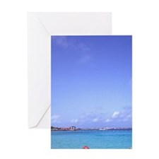 Caribbean Scuba Diving Lessons Greeting Card