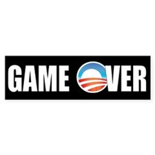 Game Over Obama Bumper Car Sticker