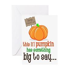 pumpkin secret frton Greeting Card