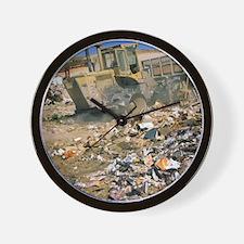 Sanitary landfill. Wall Clock