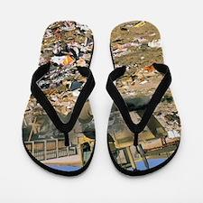 Sanitary landfill. Flip Flops