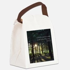 WalkInLightofLordForestNCard Canvas Lunch Bag