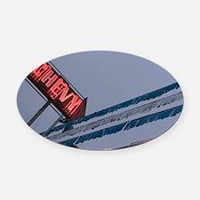 Chevy Car Dealer Neon Sign Old Str Oval Car Magnet