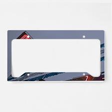 Chevy Car Dealer Neon Sign Ol License Plate Holder