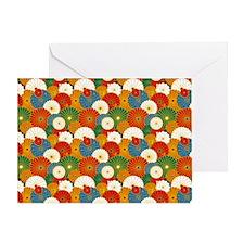 Jap Orange Shoulder Greeting Card