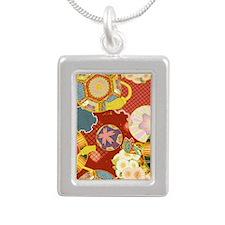 Jap RF Kindle Nook Silver Portrait Necklace