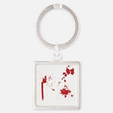 Keep Calm Kill Zombies blk Square Keychain