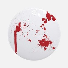 Keep Calm Kill Zombies blk Round Ornament