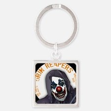 grin_reaper3c Square Keychain