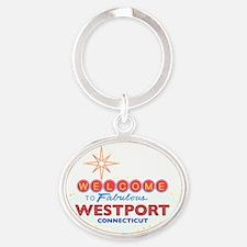 WESTPORT Oval Keychain