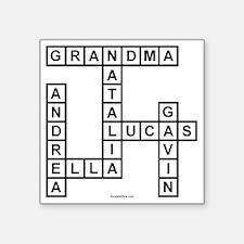 """Alvarado Square Sticker 3"""" x 3"""""""