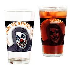 grin_reaper3c Drinking Glass